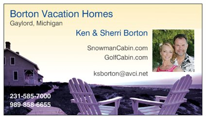 Borton Vacation Homes Gaylord Michigan.